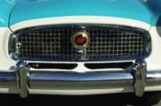 Historic Vehicle Photo Prints - 1958 Nash Metropolitan Hood Ornament 2 Print by Jill Reger