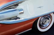 Car Detail Prints - 1958 Pontiac Bonneville Wheel Print by Jill Reger