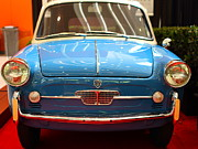 Transportation Photo Prints - 1959 Autobianchi Bianchina Transformabile . Front View Print by Wingsdomain Art and Photography