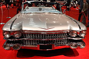 Transportation Glass Framed Prints - 1959 Cadillac Convertible . Front View Framed Print by Wingsdomain Art and Photography