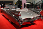 Domestic Cars Prints - 1959 Cadillac Convertible . Rear Angle Print by Wingsdomain Art and Photography