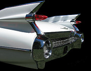Chrome Posters - 1959 Cadillac Tail Poster by Peter Piatt
