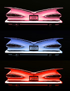 1959 Chevrolet Posters - 1959 Chevrolet Eyebrow Tail Lights Poster by Tim McCullough