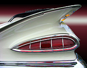 Bumpers Prints - 1959 Chevrolet Impala Tail Print by Peter Piatt