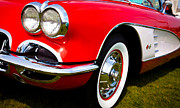 Red Street Rod Posters - 1959 Chevy Corvette Poster by David Patterson