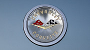 1959 Corvette Emblem Print by Paul Ward