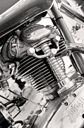 Black And White Art - 1959 Ducati Americano by Marley Holman