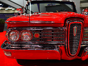 Cars Art - 1959 Edsel Corsair Convertible . Red . 7D9233 by Wingsdomain Art and Photography