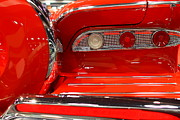 American Car Art - 1959 Edsel Corsair Convertible . Red . 7D9356 by Wingsdomain Art and Photography