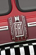 Transporter Framed Prints - 1959 Fiat Tipo 682 RN-2 Transporter Emblem Framed Print by Jill Reger