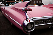 1959 Pink Cadillac Convertible Print by David Patterson