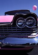Antique Auto Originals - 1959 Pink Plymouth Fury at Car Show by Anna Lisa Yoder
