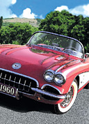 Corvette Paintings - 1960 Corvette by Rod Seel