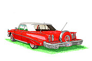 Red Edsel Posters - 1960 Edsel Ranger Continental Kit Poster by Jack Pumphrey