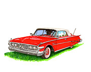 1960 Painting Framed Prints - 1960 Edsel Ranger Convertible Framed Print by Jack Pumphrey