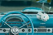 1960 Prints - 1960 Ford Thunderbird Dash Print by Jill Reger