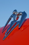 Collector Hood Ornament Metal Prints - 1960 Nash Metropolitan Metal Print by Jill Reger