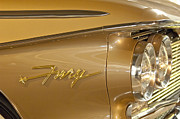 1960 Photos - 1960 Plymouth Fury Convertible Headlight Emblem by Jill Reger