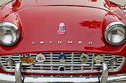Triumph Framed Prints - 1960 Triumph TR 3 Grille Emblems Framed Print by Jill Reger