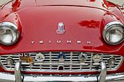 1960 Triumph Tr 3 Grille Emblems Print by Jill Reger