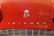 Car Mascot Metal Prints - 1960 Triumph TR3 Emblem Metal Print by Jill Reger