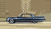 Most Digital Art Metal Prints - 1961 Cadillac Fleetwood Sixty-Special Metal Print by Bruce Stanfield