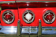 Red Impala Prints - 1961 Chevrolet Impala SS Tail Lights . 5D16269 Print by Wingsdomain Art and Photography