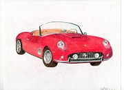 Car Jewelry Originals - 1961 Ferrari 250 GT California by Mitch Nolte