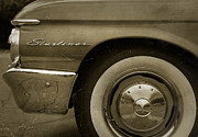 Sepia Digital Art Originals - 1961 Ford Starliner by Gordon Dean II