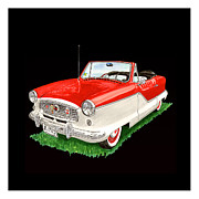 1960 Painting Framed Prints - 1961 Metropolitian convertible 1961 Framed Print by Jack Pumphrey