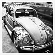 Transportation Art - 1961 Volkswagon Beetle by Gwyn Newcombe
