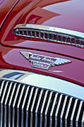 1962 Photos - 1962 Austin Healey 3000 MKII Hood Emblem by Jill Reger