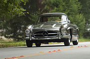 Mercedes Benz 300 Sl Classic Car Prints - 1962 Mercedes-Benz 300 SL Alloy Roadster Print by Jill Reger