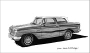 70s Drawings - 1962 Rambler American by Jack Pumphrey