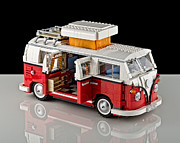 Toy Truck Framed Prints - 1962 VW Lego Bus Framed Print by Noah Katz