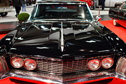 Transportation Metal Prints - 1963 Buick Riviera . Black . 7D9318 Metal Print by Wingsdomain Art and Photography