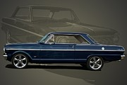 1963 Posters - 1963 Chevy II Nova Poster by Tim McCullough