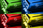 1963 Originals - 1963 Chevy Impala SS - Pop Art - Green Blue Red Yellow by Gordon Dean II