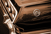 Horsepower Digital Art Originals - 1963 Chevy Impala SS Sepia by Gordon Dean II