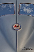 Gas Cap Prints - 1963 Corvette Sting Ray Print by Susan Candelario