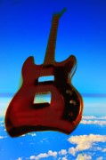 Red Guitar Framed Prints - 1963 Guild Jet Star Framed Print by Bill Cannon