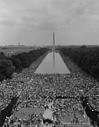 Washington Mall Prints - 1963 March On Washington. A View Print by Everett