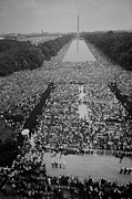 Discrimination Photo Prints - 1963 March On Washington, At The Height Print by Everett