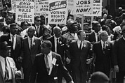 March On Washington Framed Prints - 1963 March On Washington. Civil Rights Framed Print by Everett