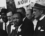 Activists Framed Prints - 1963 March On Washington. Martin Luther Framed Print by Everett