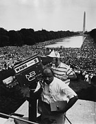March On Washington Framed Prints - 1963 March On Washington. Nbc Framed Print by Everett