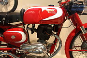 Motorcycle Posters - 1963 Moto Morini 175cc Tresette Sprint . 5D16944 Poster by Wingsdomain Art and Photography