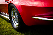 Red Street Rod Prints - 1963 Red Chevy Corvette Stingray Print by David Patterson