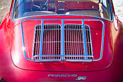 Porsche Prints - 1963 Red Porsche 356B Super 90 Back End Print by James Bo Insogna