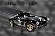 1963 Ford Digital Art Framed Prints - 1963 Shelby Cobra 289 Framed Print by Tommy Anderson
